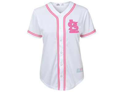 St. Louis Cardinals MLB Toddler Cool Base Pink Glitter Jersey
