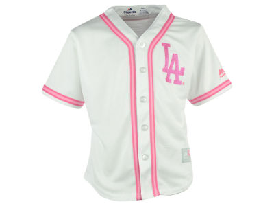 Los Angeles Dodgers MLB Toddler CB Pink Glitter Jersey