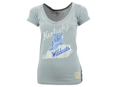 Kentucky Wildcats NCAA Women's Vintage State V-Neck T-Shirt