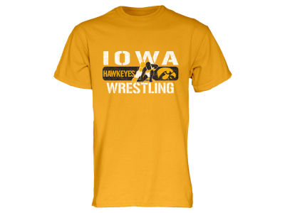 Iowa Hawkeyes Blue 84 NCAA Men's Crew Wrestling T-Shirt