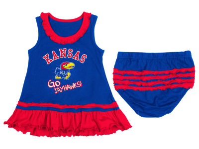 Kansas Jayhawks NCAA Newborn Ruffle Tank Dress