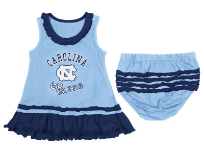 North Carolina Tar Heels NCAA Newborn Ruffle Tank Dress