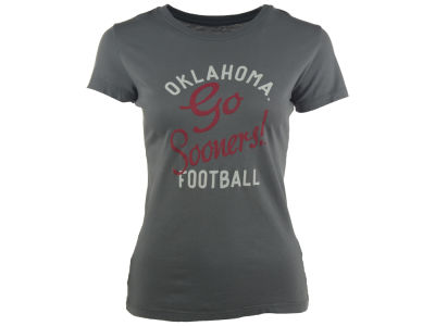 Oklahoma Sooners Blue 84 NCAA Women's Pressed Font T-Shirt