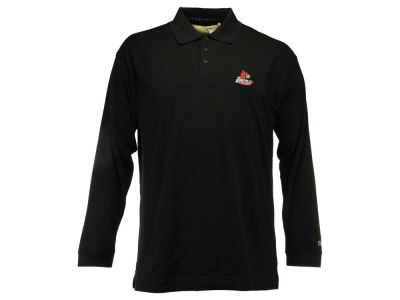 Louisville Cardinals NCAA Men's Drytech Long Sleeve Polo Shirt