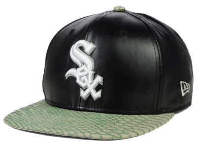 Chicago White Sox New Era MLB Snake Stop 9FIFTY Strapback Cap