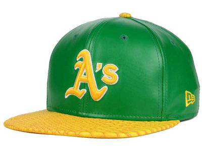 Oakland Athletics New Era MLB Snake Stop 9FIFTY Strapback Cap
