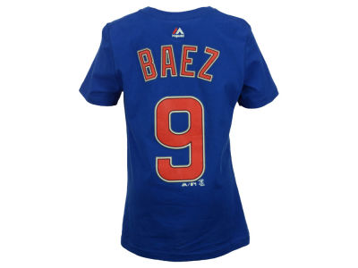 Chicago Cubs Javier Baez Majestic MLB Youth Official Player T-Shirt