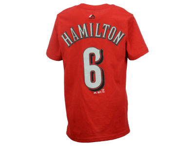 Cincinnati Reds Billy Hamilton Majestic MLB Youth Official Player T-Shirt