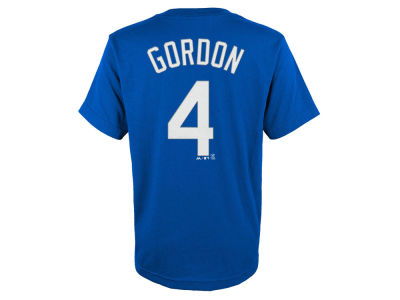 Kansas City Royals Alex Gordon Majestic MLB Youth Official Player T-Shirt