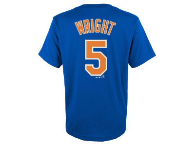 New York Mets David Wright Majestic MLB Youth Official Player T-Shirt