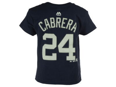 Detroit Tigers Miguel Cabrera Majestic MLB Toddler Official Player T-Shirt