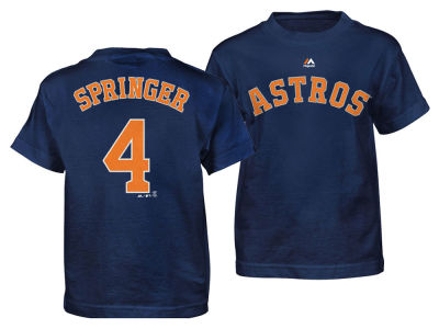 Houston Astros George Springer Majestic MLB Toddler Official Player T-Shirt