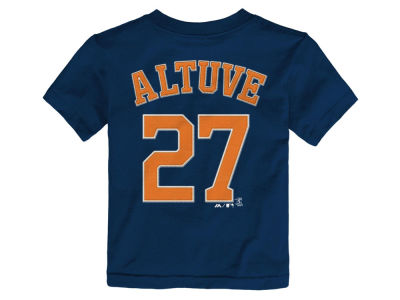 Houston Astros Jose Altuve Majestic MLB Toddler Official Player T-Shirt