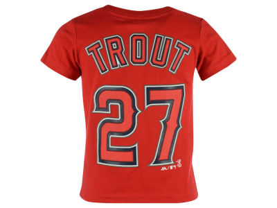 Los Angeles Angels Mike Trout  Majestic MLB Toddler Official Player T-Shirt