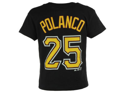 Pittsburgh Pirates Gregory Polanco Majestic MLB Toddler Official Player T-Shirt