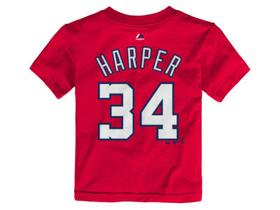 Washington Nationals Bryce Harper Majestic MLB Toddler Official Player T-Shirt