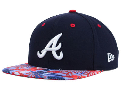 Atlanta Braves New Era MLB Floral Viz 9FIFTY Snapback Cap