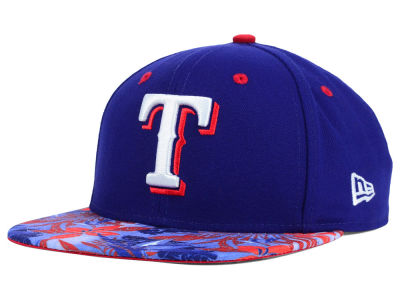 Texas Rangers New Era MLB Floral Viz 9FIFTY Snapback Cap