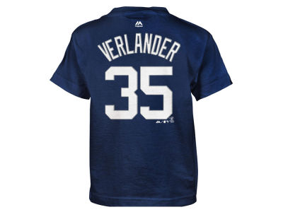 Detroit Tigers Justin Verlander MLB Kids Official Player T-Shirt