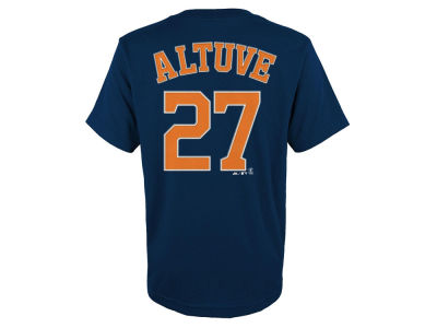 Houston Astros Jose Altuve Majestic MLB Kids Official Player T-Shirt