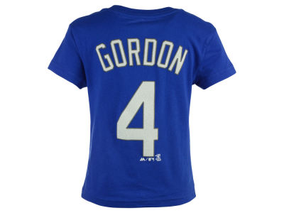 Kansas City Royals Alex Gordon Majestic MLB Kids Official Player T-Shirt