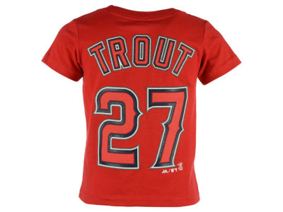Los Angeles Angels Mike Trout Majestic MLB Kids Official Player T-Shirt