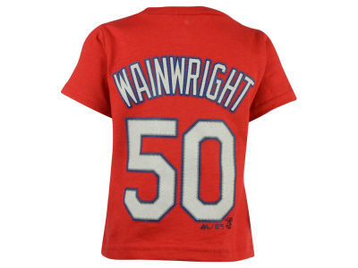 St. Louis Cardinals Adam Wainwright Majestic MLB Kids Official Player T-Shirt