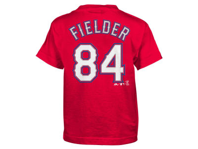 Texas Rangers Prince Fielder Majestic MLB Kids Official Player T-Shirt