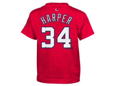 Washington Nationals Bryce Harper Majestic MLB Kids Official Player T-Shirt