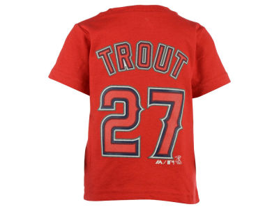Los Angeles Angels Mike Trout Majestic MLB Infant Official Player T-Shirt