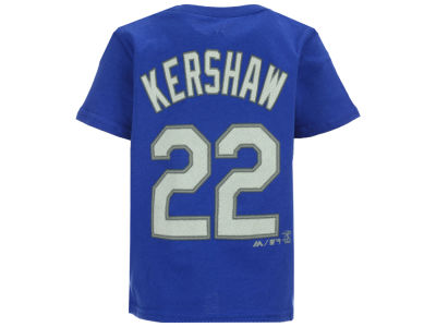 Los Angeles Dodgers Clayton Kershaw Majestic MLB Infant Official Player T-Shirt