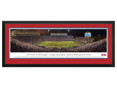 Ole Miss Rebels Panoramic Deluxe Framed