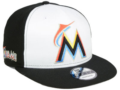 Miami Marlins New Era MLB 2 Tone Link 9FIFTY Snapback Cap