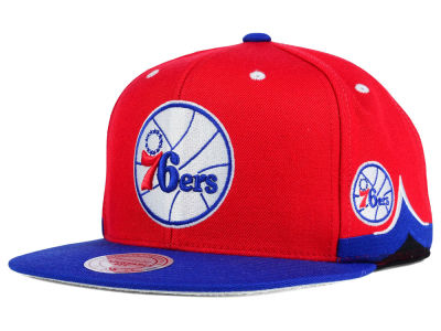 Philadelphia 76ers Mitchell and Ness NBA Game Day Snapback Cap