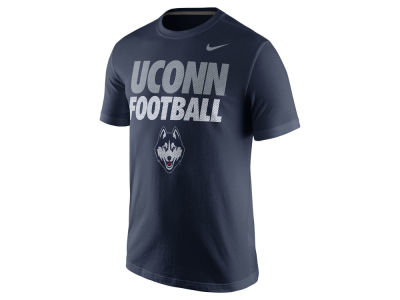 Connecticut Huskies Nike NCAA Men's Football Cotton Practice T-Shirt