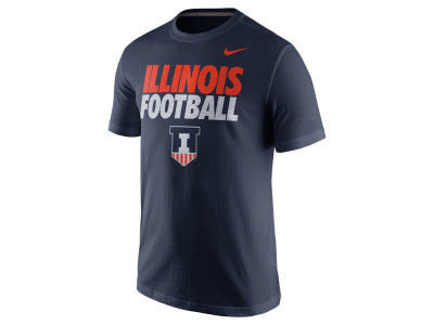 Illinois Fighting Illini Nike NCAA Men's Football Cotton Practice T-Shirt