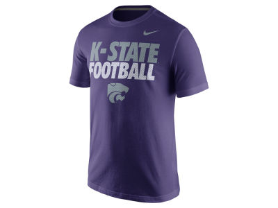 Kansas State Wildcats Nike NCAA Men's Football Cotton Practice T-Shirt
