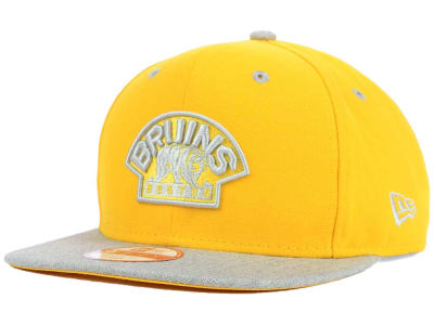 Boston Bruins New Era NHL Team Color Pop Heather 9FIFTY Snapback Cap