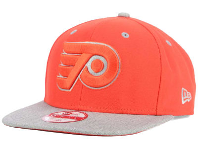 Philadelphia Flyers New Era NHL Team Color Pop Heather 9FIFTY Snapback Cap
