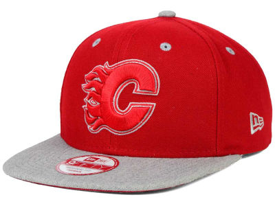Calgary Flames New Era NHL Team Color Pop Heather 9FIFTY Snapback Cap
