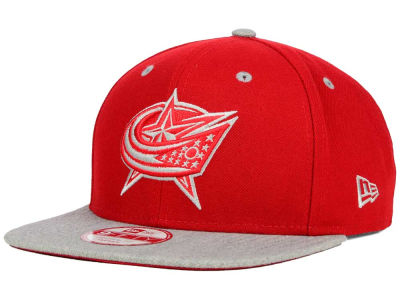 Columbus Blue Jackets New Era NHL Team Color Pop Heather 9FIFTY Snapback Cap