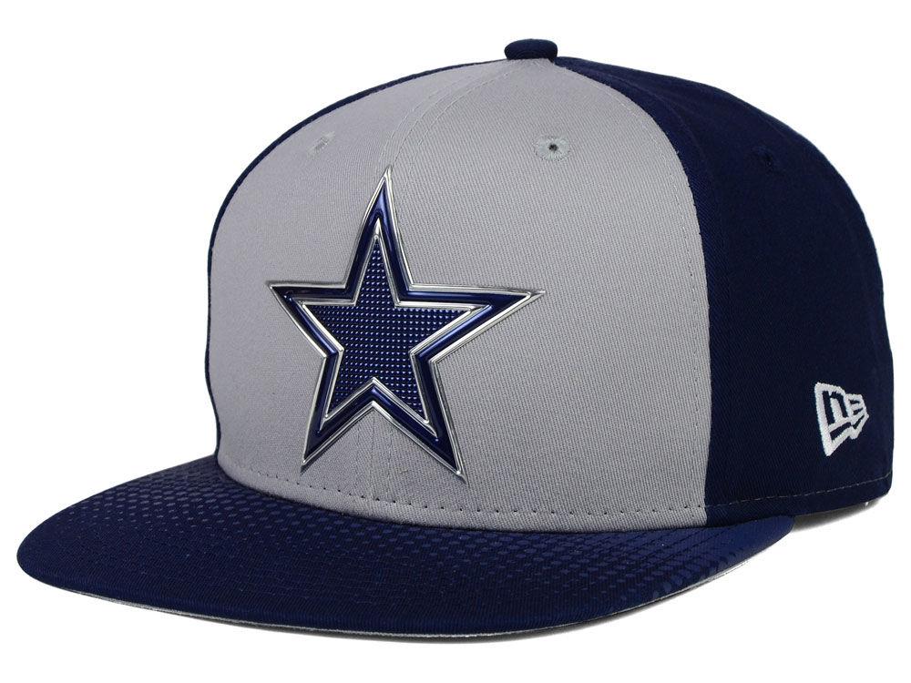 Dallas Cowboys New Era NFL 2015 Draft Gray 9FIFTY Snapback Cap ... ac1e7ffc7d8