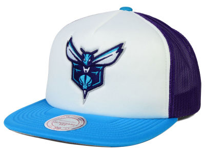 Charlotte Hornets Mitchell and Ness NBA XL Mesh Snapback Hat