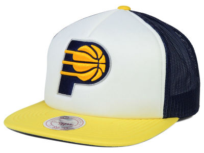 Indiana Pacers Mitchell and Ness NBA XL Mesh Snapback Hat