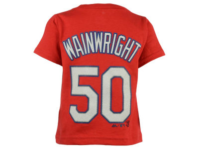 St. Louis Cardinals Adam Wainwright Majestic MLB Infant Official Player T-Shirt