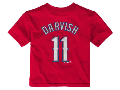 Texas Rangers Yu Darvish Majestic MLB Infant Official Player T-Shirt