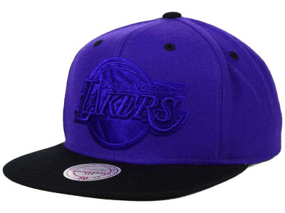Los Angeles Lakers Mitchell and Ness NBA XL Tonal Snapback Cap