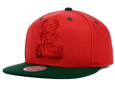 Milwaukee Bucks Mitchell and Ness NBA XL Tonal Snapback Cap