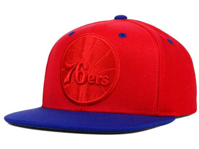 Philadelphia 76ers Mitchell and Ness NBA XL Tonal Snapback Cap