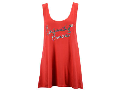 Cincinnati Bearcats Blue 84 NCAA Womens Bruno Liquid Tank